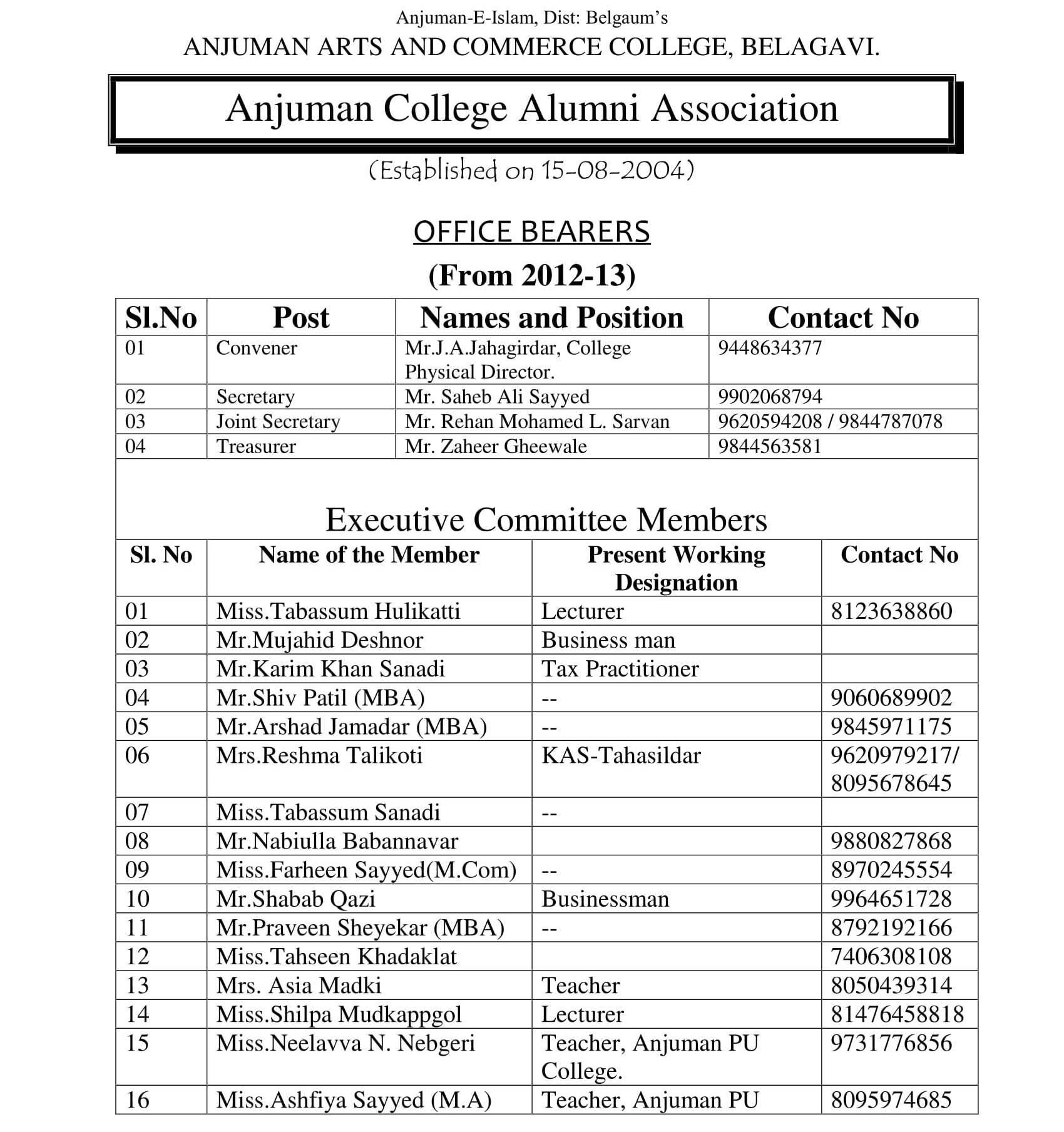 Alumni Association 2017-18-1